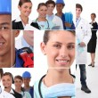 Collage illustrating career choices — Stock Photo #11465656