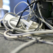 Stock Photo: Messy cables