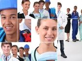 Collage illustrating career choices — Stock Photo