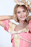 žena oblečená v dobových kostýmech — Stock fotografie