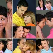Collage of couples — Stock Photo