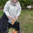 Stock Photo: Recycling in garden