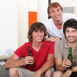 Stock Photo: Guys drinking beer
