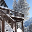 Stock Photo: Snow covered chalet