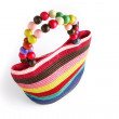 Multi-colored Hessian bag — Stock Photo