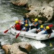 White water rafting — 图库照片