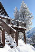Snow covered chalet — Stock Photo
