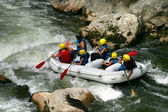 White water rafting — Stock Photo