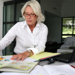 Smart senior businesswoman — Stock Photo
