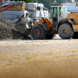 Stock Photo: Digger on a work site