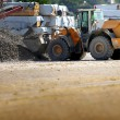 Stock Photo: Digger on work site
