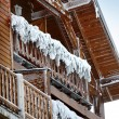 Snowy chalet — Stock Photo