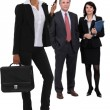 Stock Photo: Dynamic business group