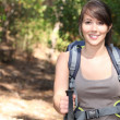 Female hiker with backpack — Stock Photo #11510964