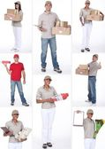 Collage of delivering goods — Stock Photo