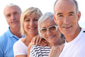 Senior in a row — Stock Photo