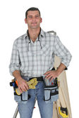 Smiling carpenter — Stock Photo