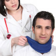 Doctor with patient — Stock Photo #11636604