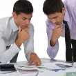 Stock Photo: Two financial experts analyzing data