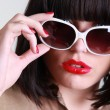 Portrait of sexy woman with sunglasses — Stock Photo #11637184