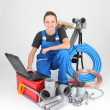 Royalty-Free Stock Photo: Portrait of a female plumber