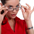 Womputting on glasses — Stock Photo #11637472