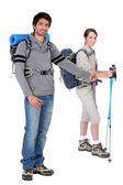 Two hikers — Stock Photo