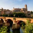 Typical French town — Stock Photo