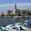 Touristic port town - Stock Photo