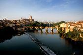 如诗如画的河边小镇 — 图库照片