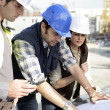 Stock Photo: Architects on site