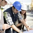 Architects on site — Stock Photo #11746001