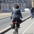 City cycle path — Stock Photo