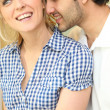 Romantic couple nuzzling — Stock Photo #11748060