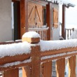 Stock Photo: Snowy chalet