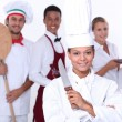 Catering professionals — Stock Photo