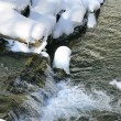 Stok fotoğraf: Stream surrounded by snow
