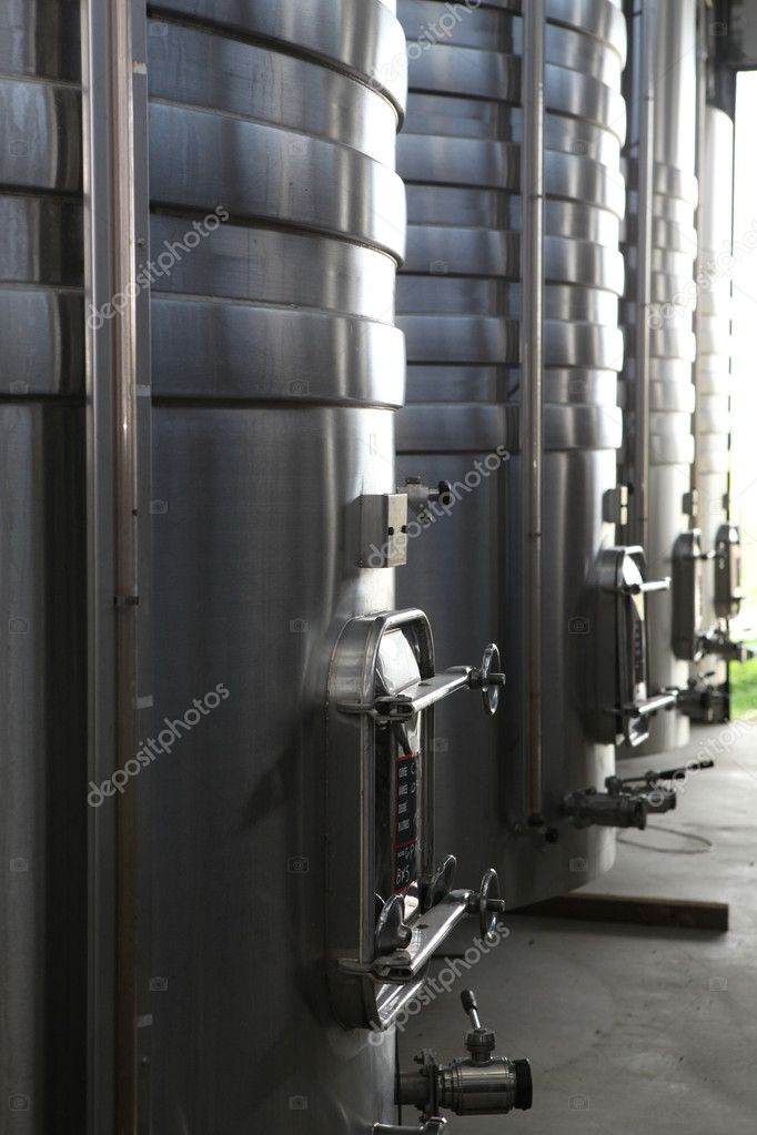 Steel wine vats — Stock Photo #11743409