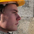 Profile head-shot of manual worker — Stock Photo