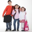 Schoolchildren with backpacks - Foto Stock