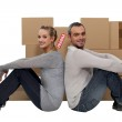 Couple moving together — Stock Photo #11752217