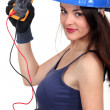 Stock Photo: Sexy electrician.