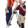 Man and woman tilers — Stock Photo #11755775