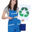 Painter with recycling symbol — Stock Photo #11757799