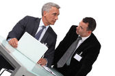 Two businessmen awaiting conference — Stock Photo