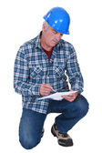 Foreman on white background — Stock Photo