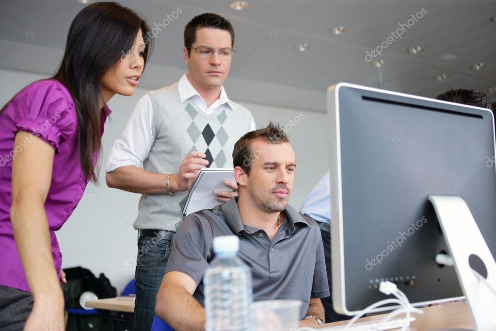 Colleagues working together on a project — Stock Photo #11750204