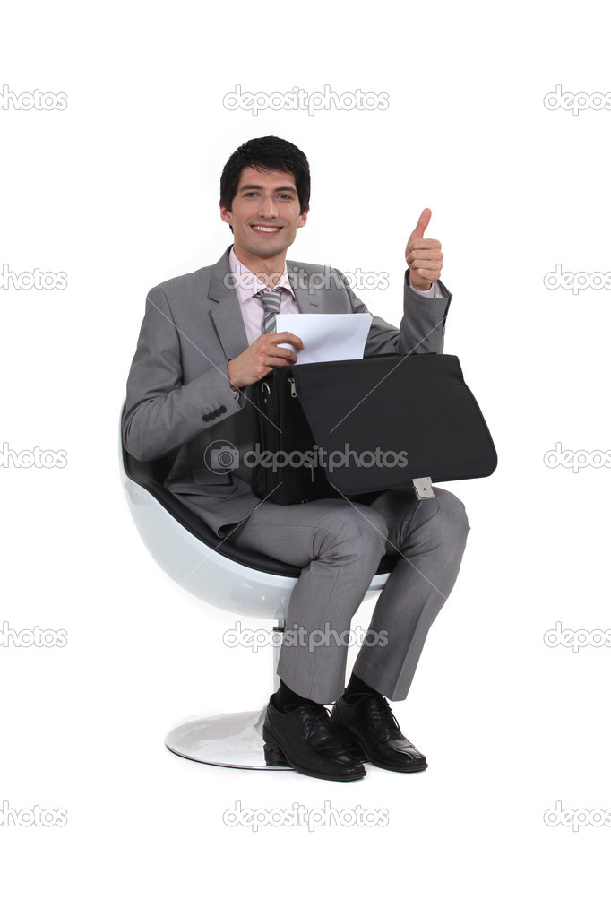 Businessman giving the thumb&#039;s up  Stock Photo #11751764