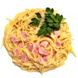 Spaghetti carbonara - Stock Photo