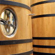 Wooden barrels - Foto Stock